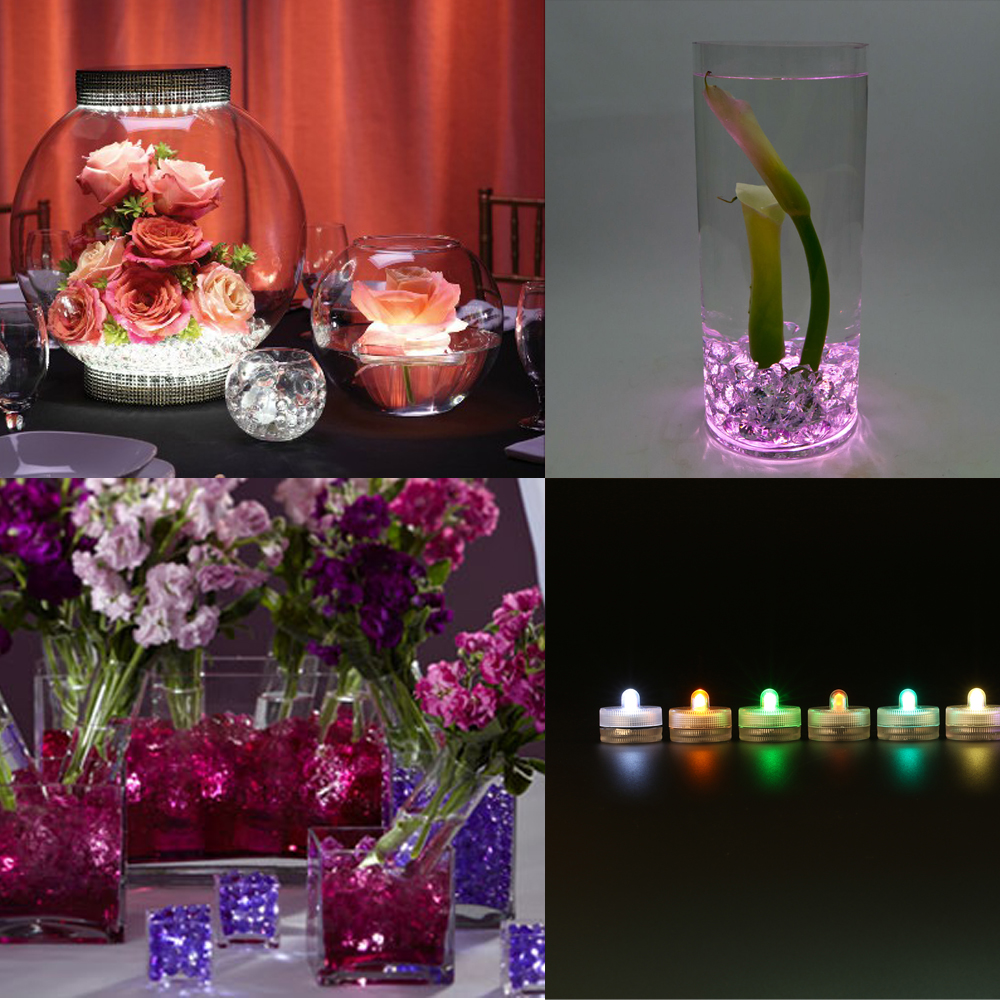50pcs Wedding Centerpiece Under Vase Lighting 3cm Mini Led
