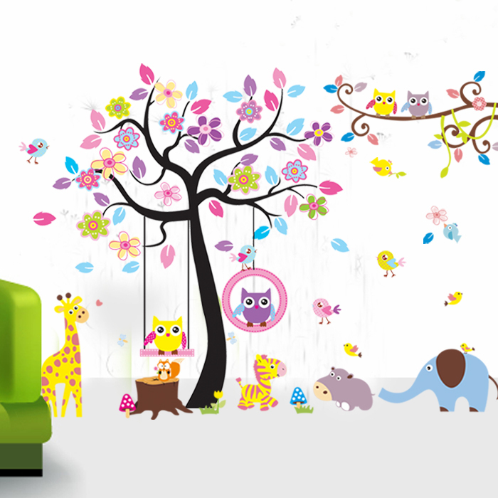 super large mixed wall stickers for kids rooms tree wall large fluorescent luminous vinyl wall stickers city of the