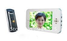 Envío Libre + 7 pulgadas TFT handfree del color del agujero de alfiler de la cámara video de la puerta de intercomunicación teléfono sistemas de visión nocturna
