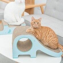 Pet cat scratch board corrugated paper grinder elephant slide wear-resistant toys pet supplies kitten mat scratcher