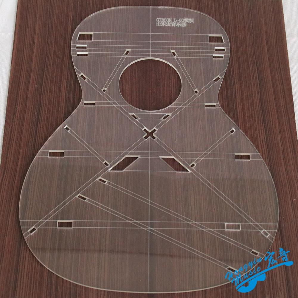 l 00 guitar shape 43inch ej200 guitar transparent acrylic template guitar making molds. Black Bedroom Furniture Sets. Home Design Ideas