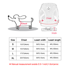 Nylon Cat Harness And Leash Set Reflective Kitten Puppy Dogs Jacket Mesh Pet Clothes For Small Dogs Chihuahua Yorkies Pug