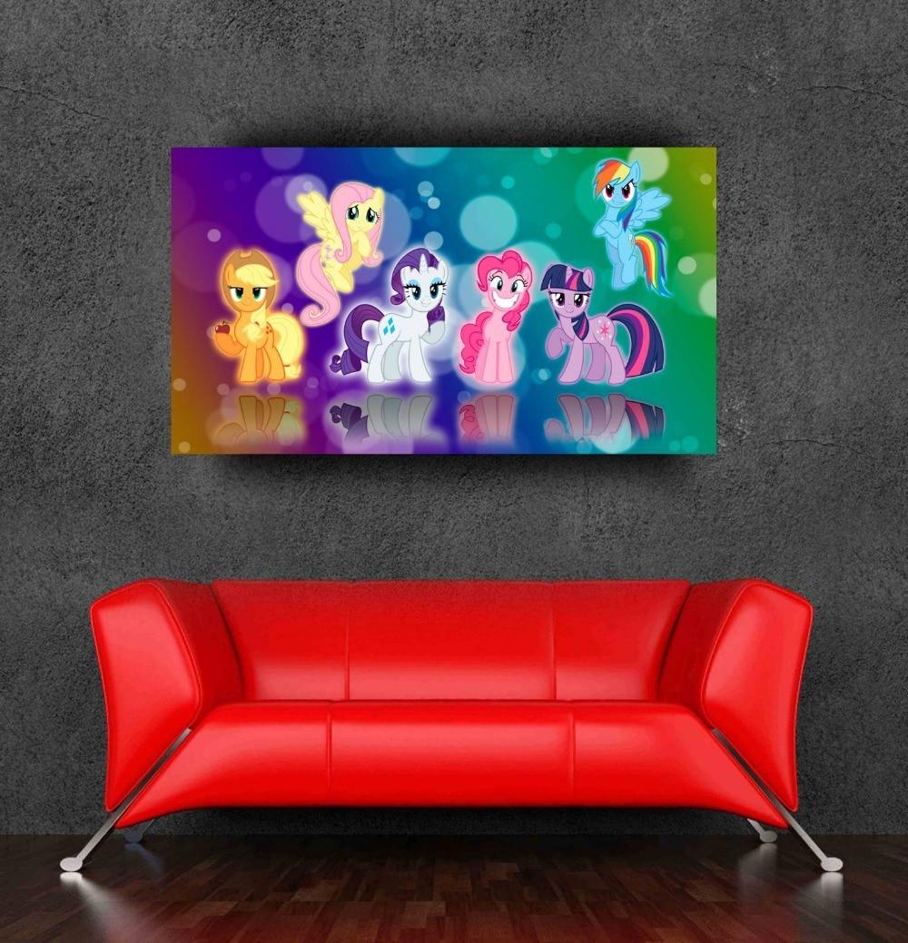 meilleures ventes my little pony stickers muraux affiche decoration pour chambre de bebe 90 x 50 cm 36 x 20 polegada livraison gratuite
