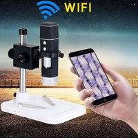 500X HD wifi microscopio digital para electronica wireless zoom camera electronic Magnifier with Stand Mount