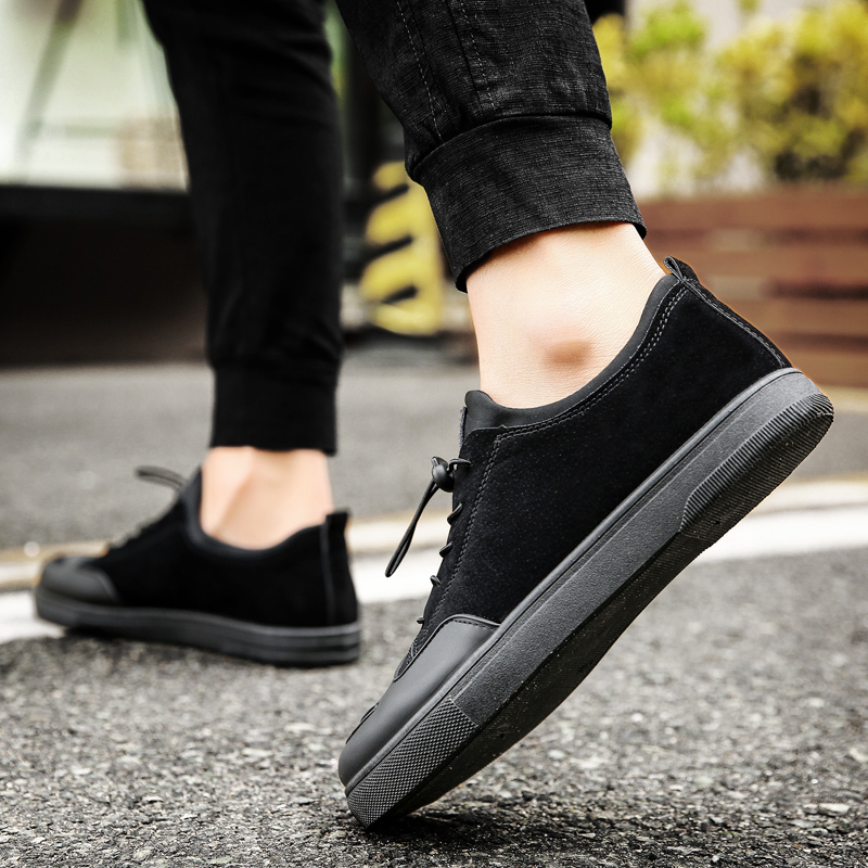Mwsc Pigskin Fabric Mens Elastic Band Casual Shoes Street Style Male Fashion Breathable Leisure Footwear Shoes