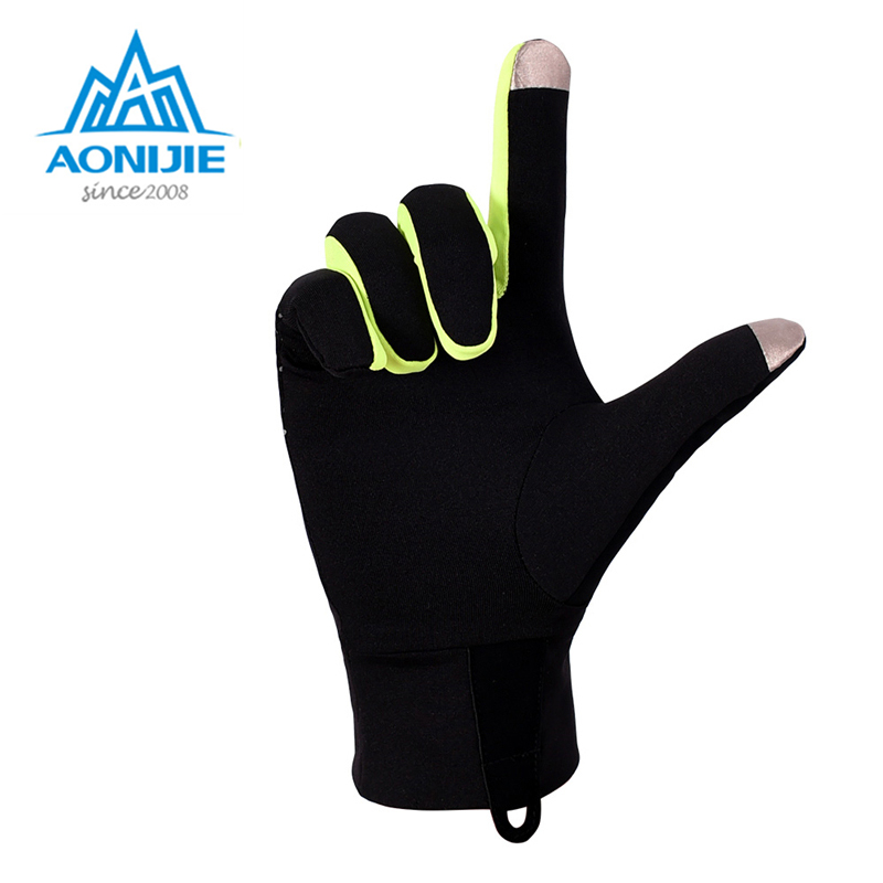 AONIJIE Unisex Sports Gloves Touchscreen Windproof Thermal Winter Fleece Running Jogging Hiking Cycling Skiing Reflective