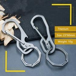 Combination Type Multifunctional EDC Titanium Alloy Mechanical Key Carabiner Backpack Hanging Buckle