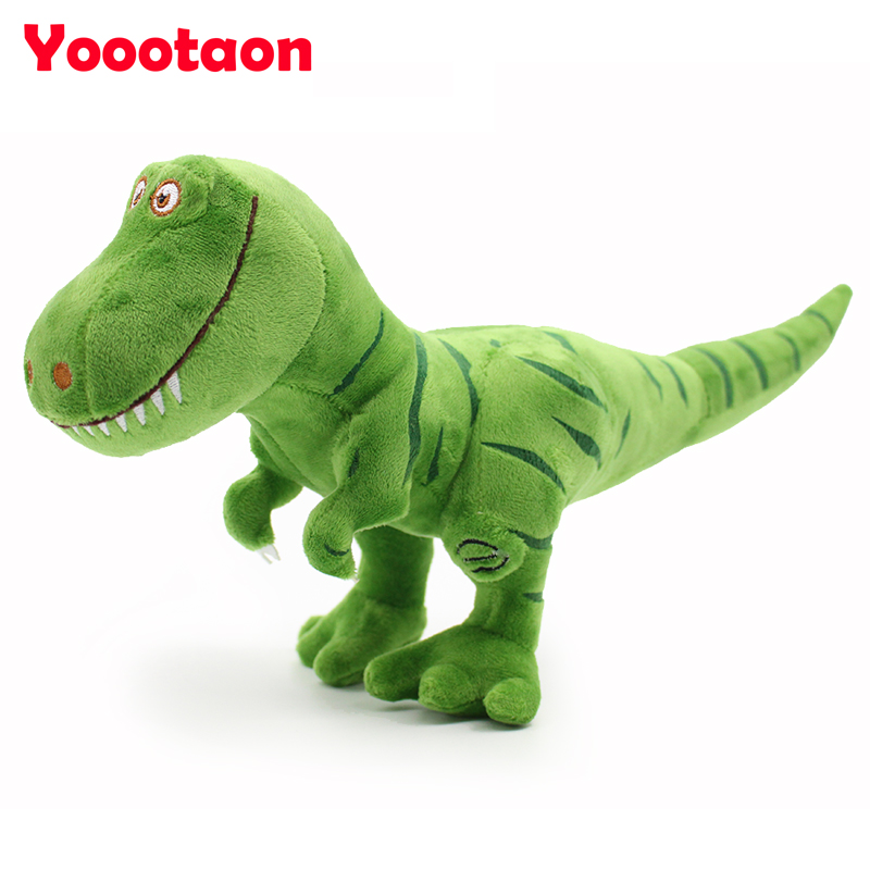New arrive Dinosaur plush toys hobbies, kawaii Tyrannosaurus rex Plush dolls & stuffed toys for children boys,baby classic toys brand new crackle the dragon plush from sofia the first show 12 baby toys for children stuffed
