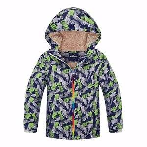 Image 1 - ฤดูหนาวที่อบอุ่นเด็กWindproofเด็กเสื้อลำลองเด็กOuterwearเสื้อผ้าสำหรับ3 12ปีดัชนีกันน้ำ5000มม.