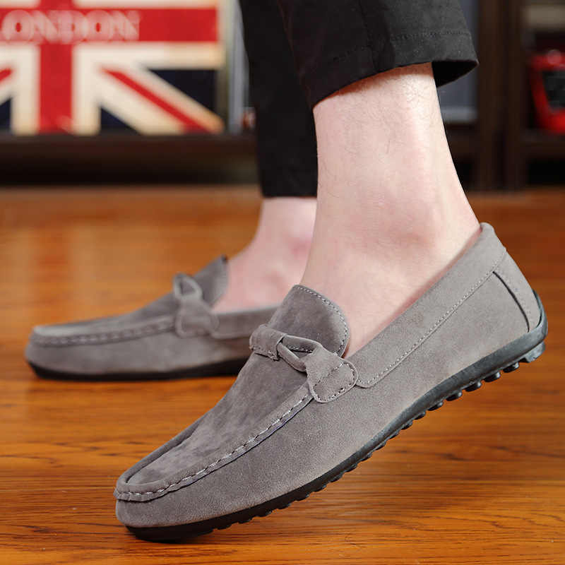 2019 Spring Men Shoes Fashion Flats Loafers Slip-on Flock Casual Shoes Men walking shoes Light Boat Shoes Male Comfort Footwear