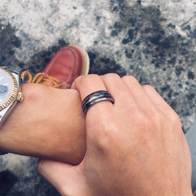 Мужское кольцо из вольфрама кольца твердого сплава серебристого