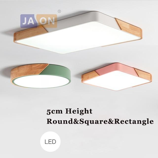 LED الحديثة الحديد الخشب الاكريليك 5 سنتيمتر الارتفاع أسود أبيض أخضر أزرق LED الثريا أضواء الثريا مصباح ليد LED مصباح للبهو