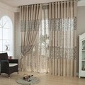 ( Single Panel ) Jacquard Curtain Hollow Out Sheer Punching Curtain The Bedroom  Comfortable Sitting Room Adornment