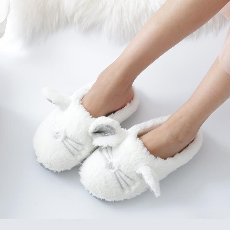 8a49b92a5b3 Cartoon Indoor Cute Animal Home Slipper Coon Adult Furry Fluffy ...