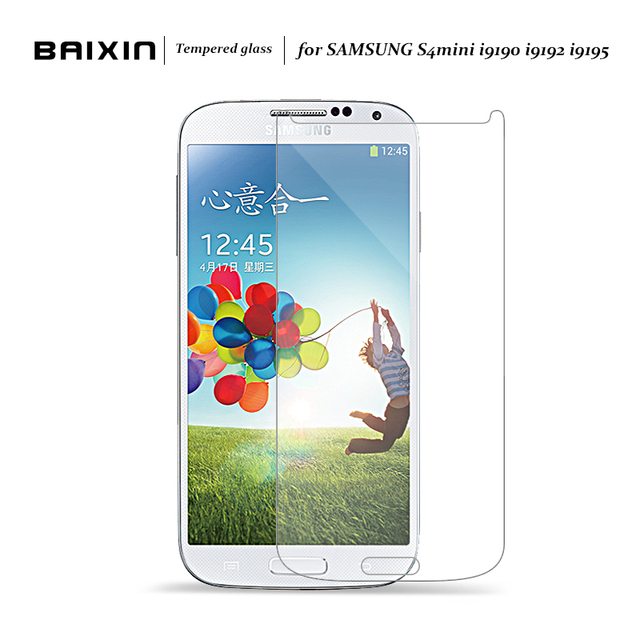 Baixin 0.3 мм закаленное Стекло Anti-Explosion для Samsung Galaxy S4 Mini Экран протектор для Samsung I9190 S4mini I9198 I9192 Плёнки