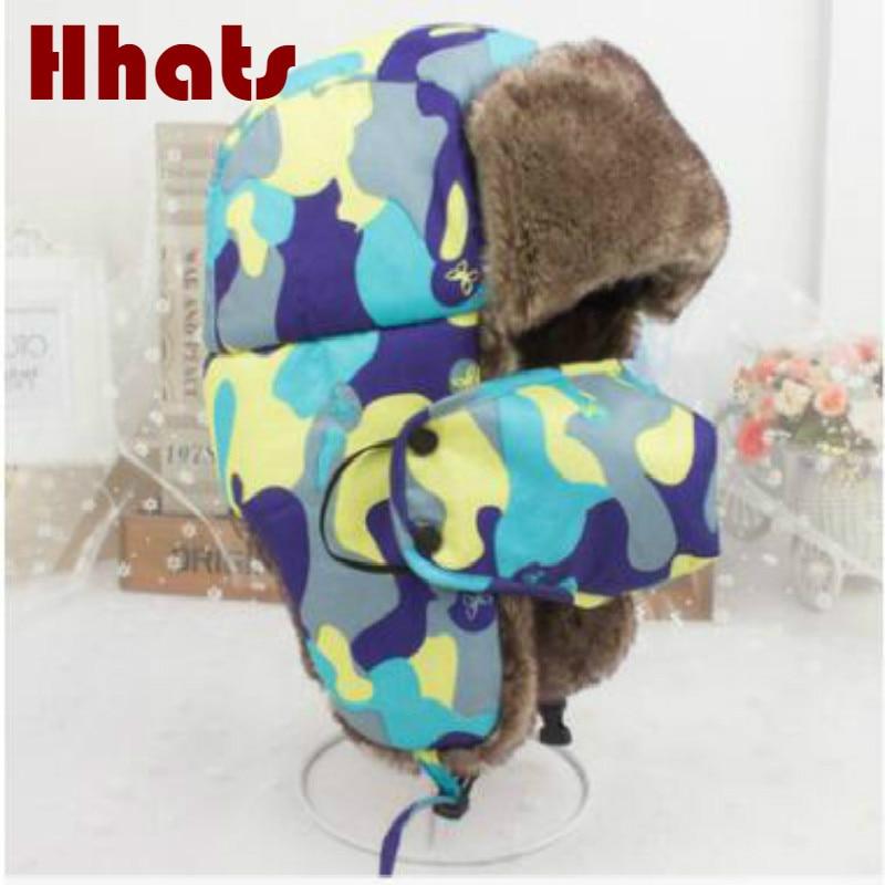 83019d118 which in shower women men faux fur winter hat cap earflat face protection  camouflage bomber hat male female camo trapper bone