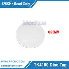 RFID מזהה NFC תגיות חכמות 125 KHz EM4100 עגול תג