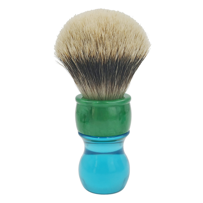 dscosmetic 26mm two band badger hair backbone well shaving brush with resin handle