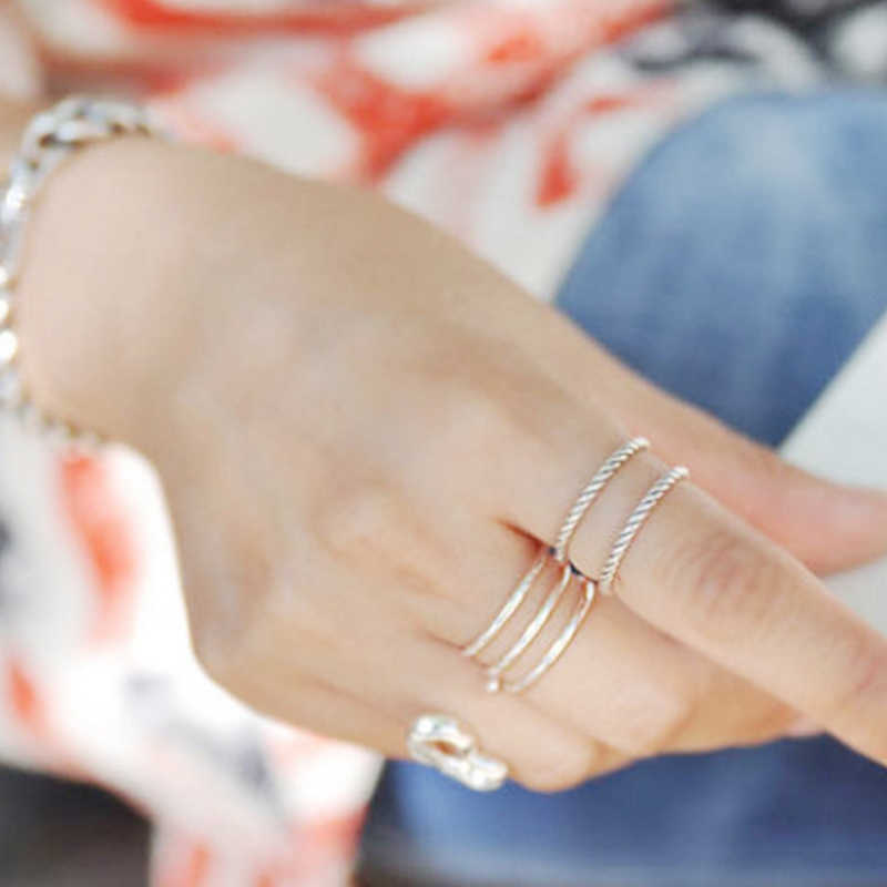 100% S925 เงินสเตอร์ลิงแฟชั่นบุคลิกภาพสามสายสุภาพสตรี Smooth แหวนเปิดเครื่องประดับยอดนิยมของขวัญปาร์ตี้สำหรับสาว