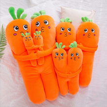 Creative Cute Simulation Carrot Short Plush Toy Stuffed Doll Toys Soft Pillow Children Kids Gift