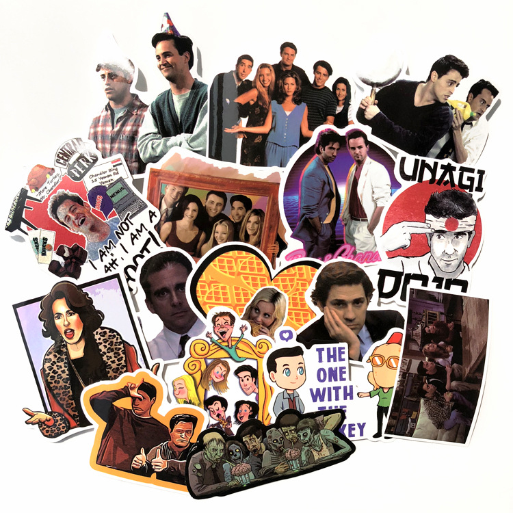 66Pcs/lot The TV Show Friends Waterproof Stickers Decorate 2019 DIY For Snowboard Laptop Styling Vinyl Home Decor Pegatina