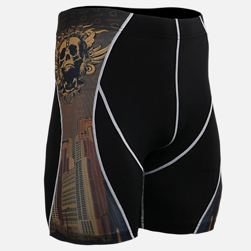 Summer MMA Rashgard Running Shorts Men Quick Dry Jogging Shorts Men Fitness Crossfit Compression Tights Brand Gym Short Leggings ...