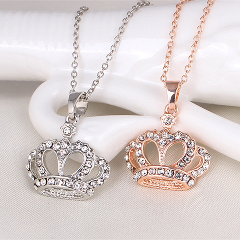 2017 Fashion New Classic Princess Crown Necklaces Pendant Women Crystal  Jewelry -in Pendant Necklaces from Jewelry   Accessories on Aliexpress.com   3b05f878e4cc