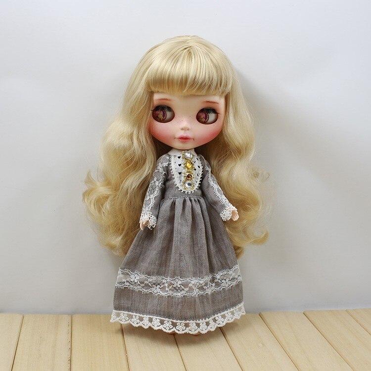 Neo Blythe Doll Retro Mosaic Jewelry Dress 3