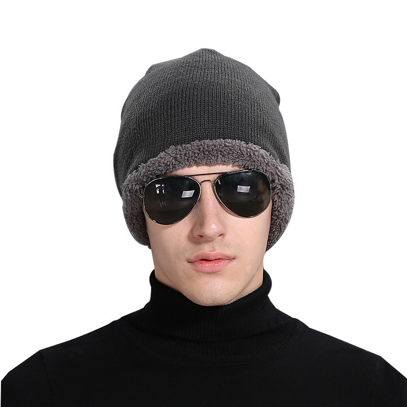 Fashion New Unisex Beanie Men's Cap Wool Winter Knitting Hat Fleece Increase Women Lady Outdoor Warm Hats gorro skullies beanies wuhaobo the new arrival of the cashmere knitting wool ladies hat winter warm fashion cap silver flower diamond women caps