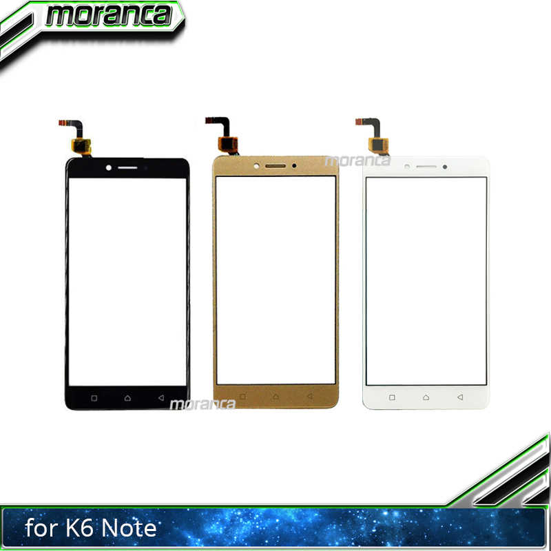 moranca 5 5'' Touchscreen for Lenovo K6 Note K53a48 Touch Screen Front  Glass Digitizer Panel Lens Sensor Replacement Parts
