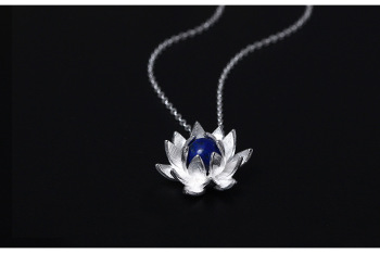 Lady Creative Elegant 925 Sterling Silver Lapis Lazuli Necklaces55