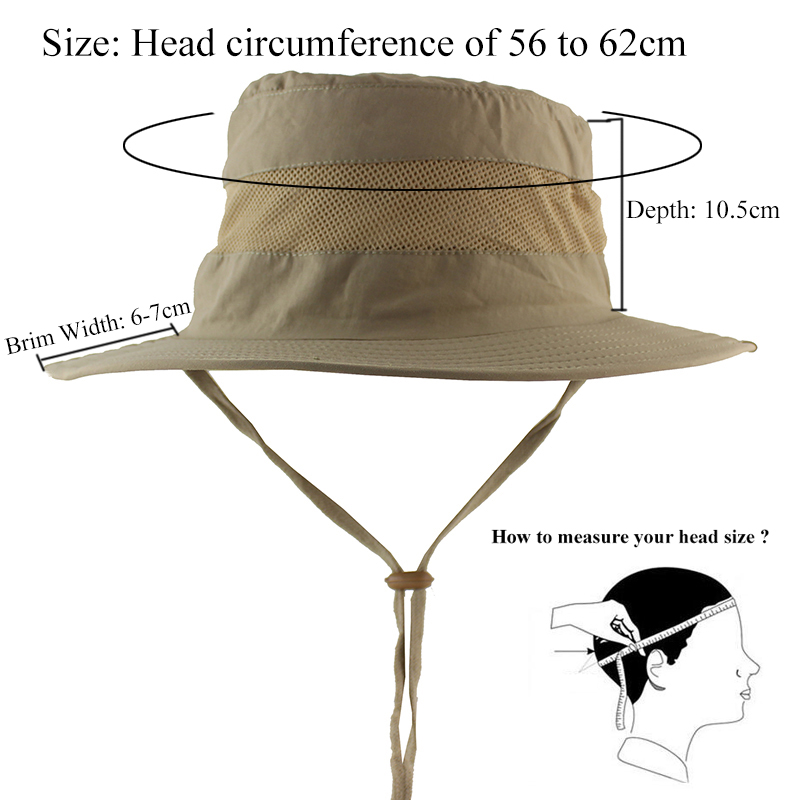 Lightweight UPF50+ Summer Sun Hat for Mens Womens Bucket Hat Breathable  Mesh Boonie Hat Outdoor Foldable Quickdry UV Protection-in Sun Hats from  Apparel ... 448933bd91d