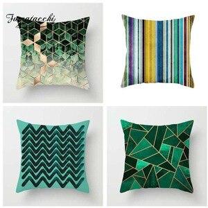 Fuwatacchi Nordic Style Cushion Cover Geometric Printed Pillow Cover Striped Diamond Lattice Decorative Pillows For Sofa Car