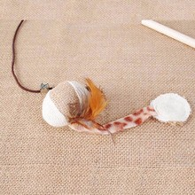 Nice, interactive elastic rod toy with bells & mouse