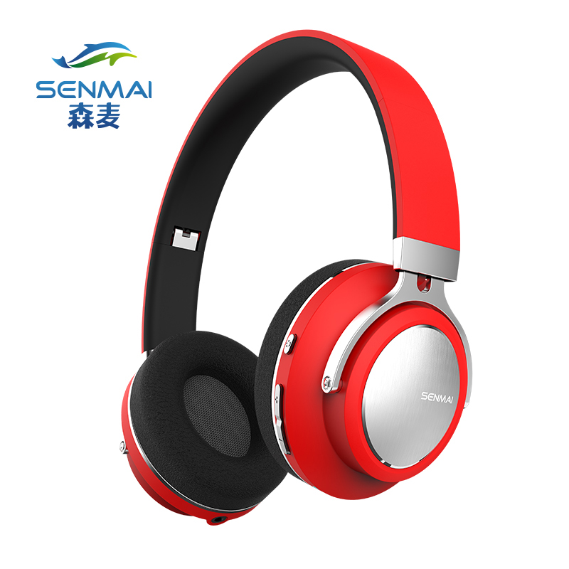 SenMai Active Noise Cancelling BT4.1 Bluetooth Headphones Wireless Stereo Headset Headphones with Microphone for phone