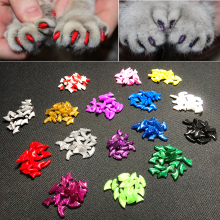 Cat nail cover Kitten Paws Grooming Nail Claw Adhesive Glue Applicator Soft Rubber Pet Cover/Paws 20 capsules Supplies