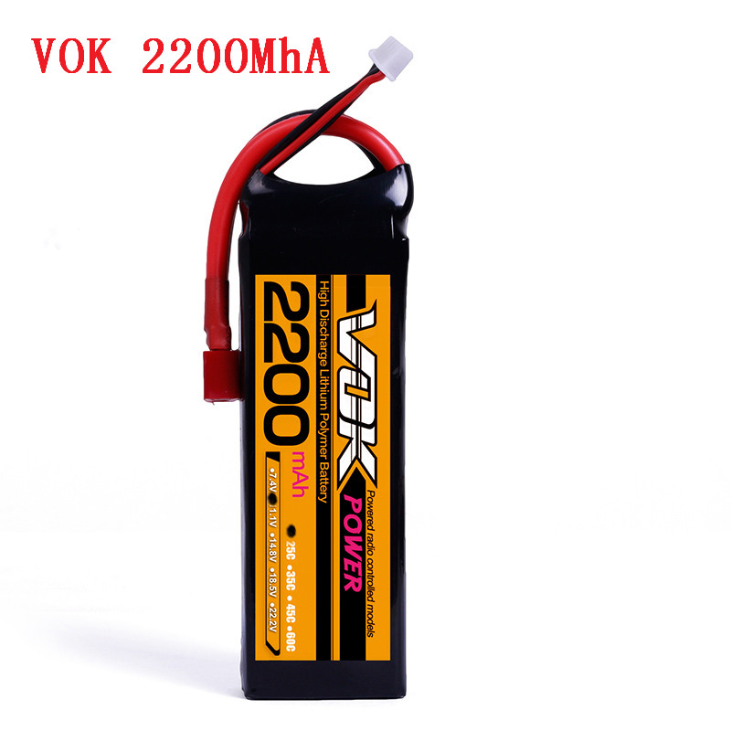 T-Plug Discharger Plug VOK <font><b>3S</b></font> <font><b>Lipo</b></font> Battery 11.1V <font><b>2200mAh</b></font> 25C <font><b>Lipo</b></font> Battery Universal For RC Race Helicopter image