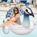 190*160*140 cm Inflável Gigante Piscina Float 2017 Nova Peahen Pavão Flutua Água Brinquedos Para Adultos Unicórnio placa de natação Bordo natação Piscina