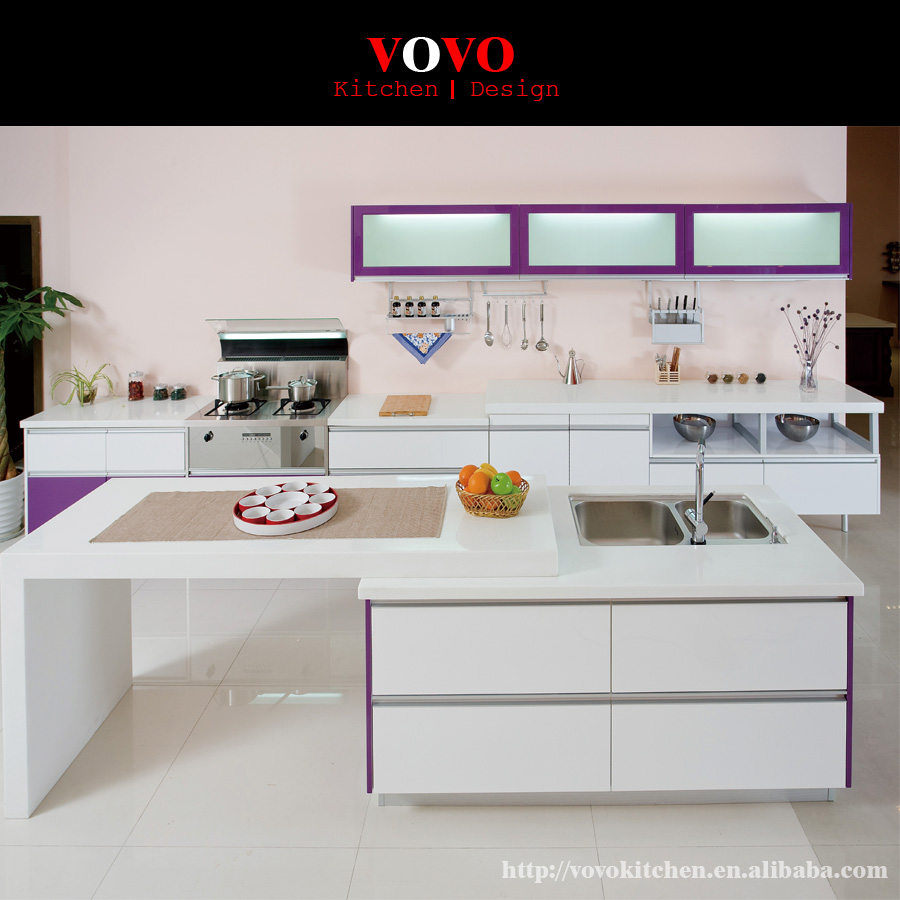 White Lacquered Kitchen Cabinetry: White Modern Style Lacquer Kitchen Cabinet-in Kitchen