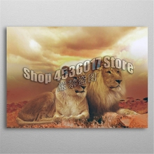 5D Diy Diamond Painting Lions Family Embroidery Full Mosaic Animals Pictures Rhinestones Home Decor Craft Kits