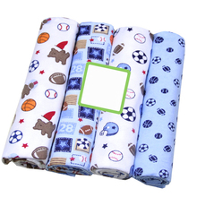 4 Pcs/Lot 100% Cotton Flannel Receiving Baby Blanket Soft Baby Muslin Diapers Newborn Swaddle Blanket Muslin Swaddle 76*76 CM muslinlife cotton breathable baby blanket mutli functional muslin baby blanket newborn 100 patterns fashion swaddle available