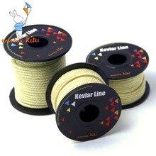 Аксессуары для воздушных змеев 100-2000lbs Плетеный кевларовый шнур для кайта, крепкий Многофункциональный шнур для рыбалки, кемпинга, пешего туризма