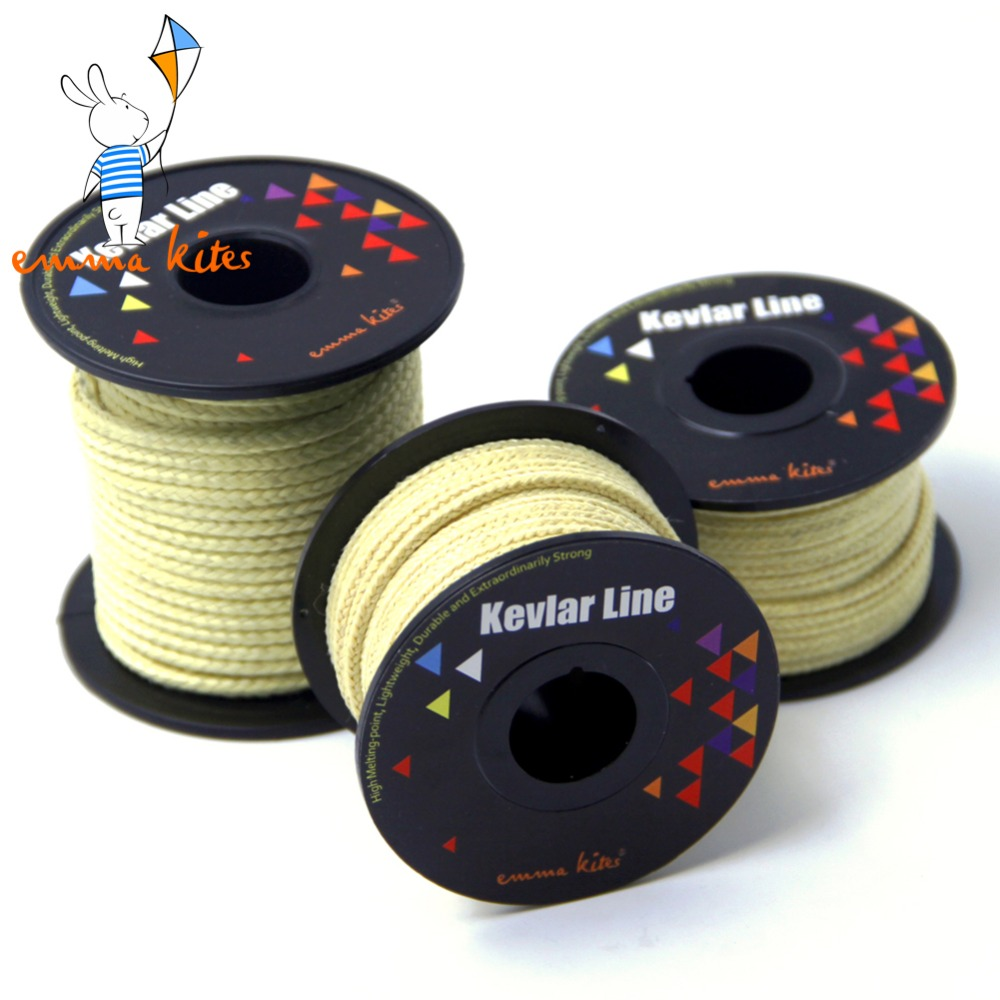 Kites Accessories 100-2000lbs Braided Kevlar Line Kite String Strong Multifunctional Cord for Fishing Camping Hiking Backpacking