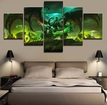 Hot Sel 5 Piece Modular Home Decor Wall Art Warcraft Paintings on Canvas Wall Art for Home Decorations Wall Decor Artwork
