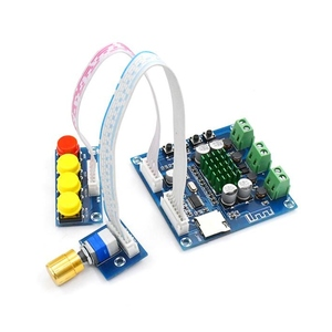 Image 2 - DC 12 V 24 V Bluetooth デジタルアンプボード 15 ワット + 15 ワットステレオ 2.0 オーディオアンプとトーンボード TF カードプレイ