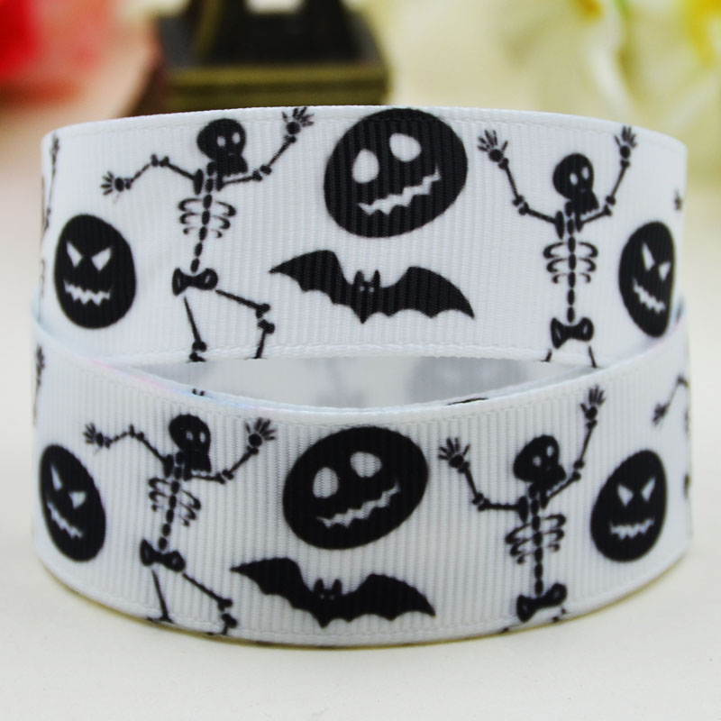 <font><b>7/8</b></font>'' (22mm)<font><b>Halloween</b></font> Character printed <font><b>Grosgrain</b></font> <font><b>Ribbon</b></font> party decoration satin <font><b>ribbons</b></font> X-02187 OEM 10 Yards image