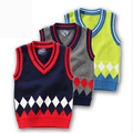 2016 Baby Boys Autumn Winter Sweaters Children Kids Knitted Pullover Warm Outerwear Sweater Vest