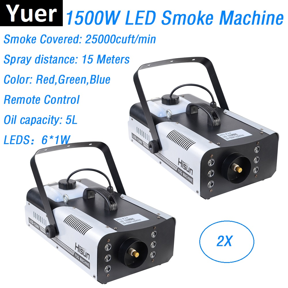 12x3w Led Rgb 3in1 Charm Colorful Fog Smog Machine With Direction Ajustable Smoke Device Head 1.5l Tank Capacity Commercial Lighting