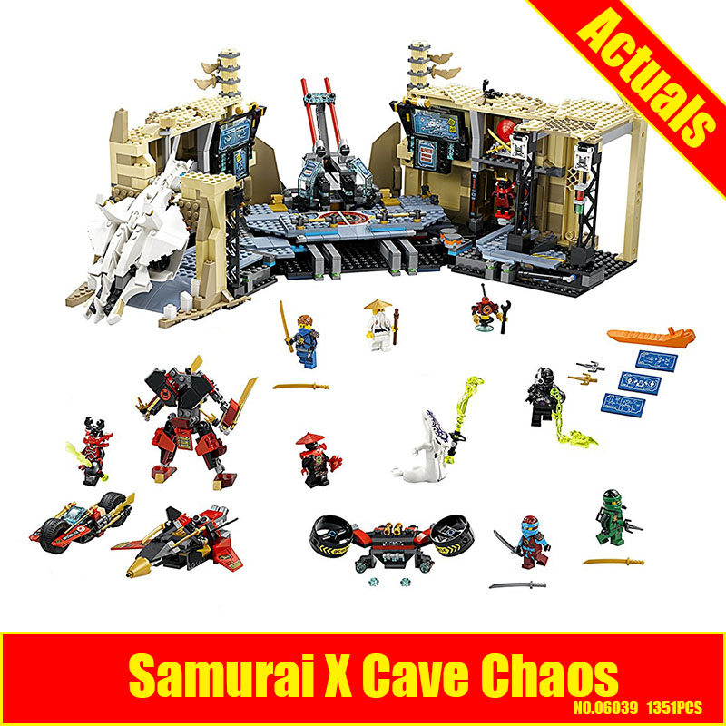 Lepin 06039 1351pcs Ninja Samurai X Desert Cave Chaos Nya Lloyd Pythor Building Blocks Compatible 70596 Brick Toy lepin 663pcs ninja killow vs samurai x mech oni chopper robots 06077 building blocks assemble toys bricks compatible with 70642