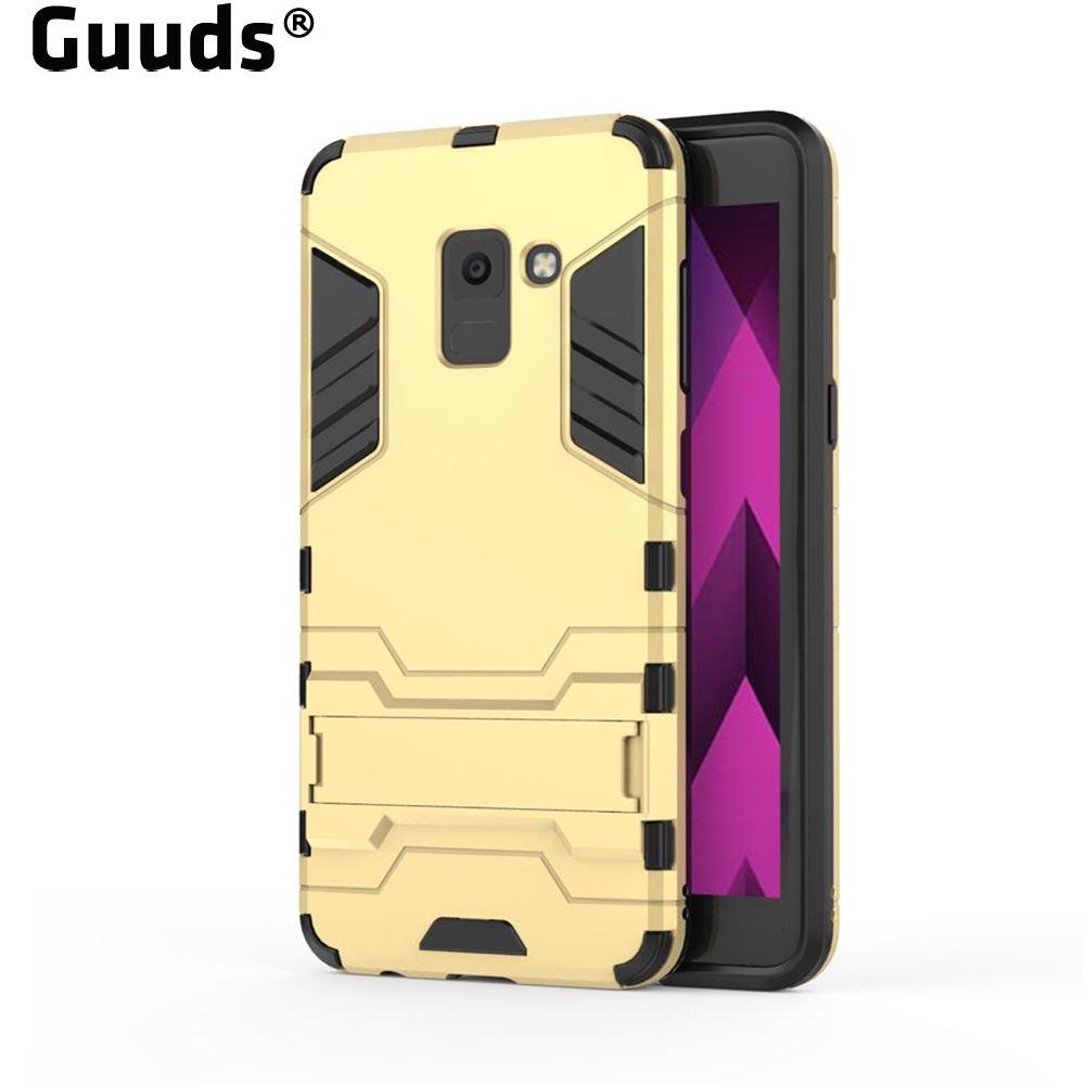 For Samsung Galaxy A8 Plus 2018 A530 J3 J5 J7 A3 A5 A7 2017 2015 2016 Armor Premium Iron Man Kickstand Shockproof Rugged Cover